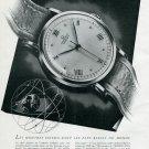 1945 Omega Watch Company Switzerland Original 1940's Swiss Print Ad Publicite Suisse Schweiz