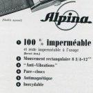 1939 Alpina Union Horloger S.A. 1930's Swiss Print Ad Suisse Publicite Montres Uhr