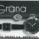 1939 Grana Kurth Freres SA Watch Company Grenchen Switzerland Swiss Print Ad Publicite Suisse