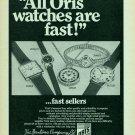 1969 Oris Watch Company Bentima House Swiss Print Ad Publicite Suisse Schweiz Suiza