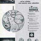 1969 Ronda SA Fabrique d'ebauches Switzerland Swiss Print Ad Publicite Suisse