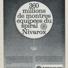 1965 Nivarox St-Imier Switzerland 1960's Swiss Print Ad Publicite Suisse Horlogerie Horology