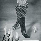 Vintage 1950 Prexa The Self Going Watch Original Swiss Print Ad Publicite Suisse Montres Switzerland