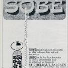 1967 Sobe Stichelbaut-Balcaen Swiss Print Ad Advert Publicite Suisse Switzerland