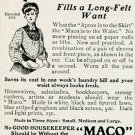 Original 1905 M Alshuler Co Waukegan IL Maco Waist Protector Early 1900's Magazine Ad