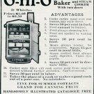 Original 1905 The Ohio Cooker Company Early 1900's Magazine Ad O-Hi-O Combination Baker