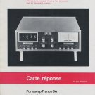 Portescap France SA Multicapt Reno France 1975 French Ad Advertisement Publicite