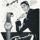 Donada Watch Co W. Racine Switzerland Vintage 1956 Swiss Print Ad Suisse Publicite Montres