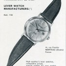 Paul Maillardet & Fils Watch Co France 1960 Swiss Print Ad Advert Publicite Montres