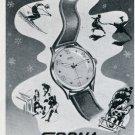 Sorna Watch Co E Schenker Switzerland Vintage 1947 Swiss Print Ad Advert Publicite Suisse