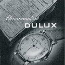 Dulux SA Watch Company Tramelan Switzerland Vintage 1947 Swiss Print Ad Publicite Suisse Montres