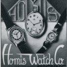 Homis Watch Company Switzerland Vintage 1947 Swiss Print Ad Publicite Suisse Montres
