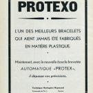 1947 Protexo Technique Horlogere Reymond Switzerland Swiss Print Ad Publicite Suisse