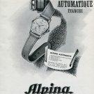 Alpina Union Horlogere SA Switzerland Original 1946 Swiss Print Ad Publicite Suisse Montres