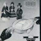 Montres Marvin SA La Chaux-de-Fonds Switzerland Original 1946 Swiss Print Ad Publicite Suisse