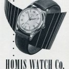 Homis Watch Company Switzerland Vintage 1956 Swiss Print Ad Advert Publicite Suisse Montres
