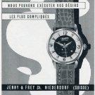 Jenco Watch Company Jenny & Frey SA Switzerland 1956 Swiss Print Ad Suisse Publicite Montres Schweiz