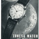 Lunesa Watch Company Switzerland Vintage 1956 Swiss Print Ad Publicite Suisse C Henzi