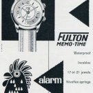Fulton Watch Company Gve Homberger Switzerland 1956 Swiss Print Ad Publicite Montres Suisse