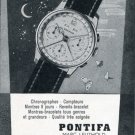 Pontifa Watch Company Marc Leuthold Switzerland 1956 Swiss Print Ad Advert Publicite Suisse Montres