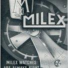 Milex Watch Company Milex Elem Switzerland 1956 Swiss Print Ad Publicite Suisse Montres
