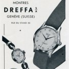 Dreffa Watch Company Switzerland Vintage 1956 Swiss Print Ad Publicite Suisse Montres Suiza