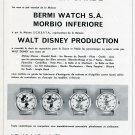 1969 Advertisement Walt Disney Production Bermi Watch Co SCREPTA Swiss Print Ad Publicite Suisse