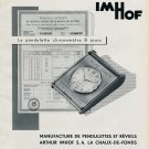 Vintage 1956 Arthur Imhof S.A. Clock Co Publicite Suisse Swiss Print Ad Switzerland