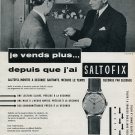 Vintage 1956 Hy Moser & Cie SA Saltofix Watch Advert Publicite Suisse Montres Swiss Print Ad