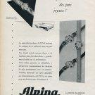 Vintage 1956 Alpina Union Horlogere SA Pure Joie Publicite Suisse Montres Swiss Print Ad Schweiz