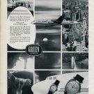 Vintage 1956 Gruen Watch Co Precision Extraordinaire TWA Publicite Suisse Montres Swiss Print Ad