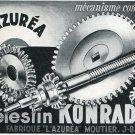 Celestin Konrad L'Azurea Publicite Suisse Vintage 1969 Swiss Print Ad Horology Horlogerie