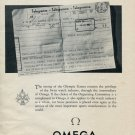 Omega Watch Company Melbourne Olympic Games Vintage 1953 Swiss Print Ad Publicite Suisse