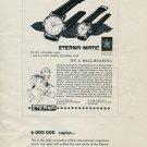 Vintage 1953 Eterna Watch Co Switzerland Swiss Print Ad Publicite Suisse Eterna Matic Watch Advert