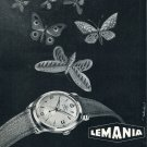 Vintage1953 Lemania Lugrin SA Watch Company Swiss Print Ad Publicite Suisse Montres