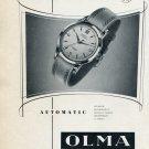 Vintage 1953 Olma Numa Jeannin SA Watch Co Switzerland Swiss Print Ad Publicite Suisse Montres