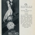 Vintage 1953 Record Watch Co 50 Year Anniversary Publicite Suisse Montres Swiss Print Ad Datofix