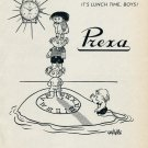 Vintage 1953 Prexa Watch Co It's Lunch Time Boys Swiss Print Ad Publicite Suisse Montres Schweiz