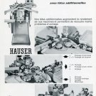 Vintage 1969 Henri Hauser SA Machine Co Switzerland Swiss Print Ad Publicite Suisse