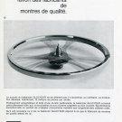 FBR Glucydur Fabriques de Balanciers Reunies SA Publicite Suisse 1969 Swiss Print Ad Horology