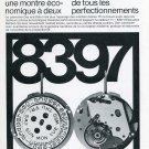 Ebauches Bettlach SA Suisse Publicite Vintage 1969 Swiss Print Ad Horology Horlogerie