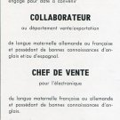 SA Girard-Perregaux & Co Watch Co 1969 Publicite Employment Advertisement Swiss Print Ad Suisse