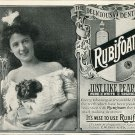 1905 Rubifoam Dentrifice E W Hoyt & Co Lowell MA Original Early 1900s Print Ad Advert Teeth Dental