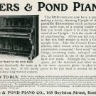 1905 Ivers & Pond Piano Co Boston MA Massachusetts Original Early 1900s Ad Advert Publicite