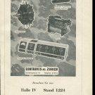 Vintage 1947 Contraves AG Zurich Swiss Print Ad Publicite Suisse Schweiz Switzerland