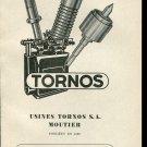 Vintage 1947 Usines Tornos S.A. Moutier Switzerland Swiss Print Ad Publicite Suisse