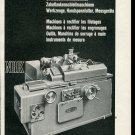Vintage 1947 Reishauer Werkzeuge Swiss Print Ad Publicite Suisse Schweiz Switzerland