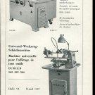 Vintage 1947 Edouard Dubied & Cie SA Neuchatel Swiss Print Ad Publicite Suisse Schweiz