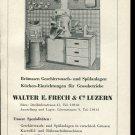 Vintage 1947 Walter E Frech & Co Luzern Swiss Print Ad Publicite Suisse Schweiz Suiza