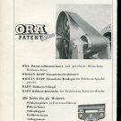Vintage 1947 Leder & Co AG Rapperswill Ora Patent Leder Swiss Print Ad Publicite Schweiz